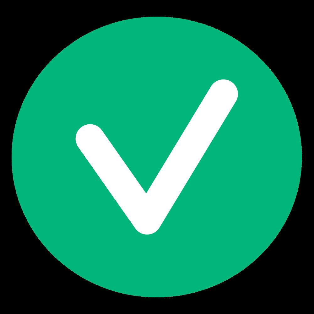 Green checkmark large